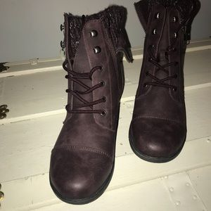Purple Combat Boots.